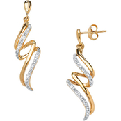 PalmBeach Diamond Accent Ribbon Earrings
