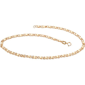 PalmBeach 10K Yellow Gold Heart Link Ankle Bracelet