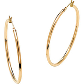 PalmBeach 10K Yellow Gold Hoop Earrings