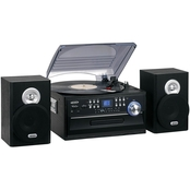 Jensen 3 Speed Stereo Turntable 4 in 1 Music System