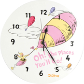 Trend Lab Dr. Seuss Oh! The Places You'll Go! Wall Clock Pink