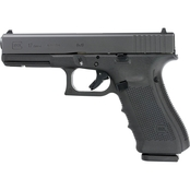 Glock 17 Gen 4 9MM 4.49 in. Barrel 17 Rds 3-Mags Pistol Black