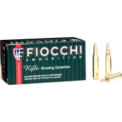 Fiocchi .223 Rem 55 Gr. FMJ Boat Tail, 50 Rounds