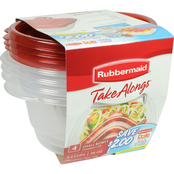 Rubbermaid Takealongs Small Storage Bowls with Lids 4 pk.