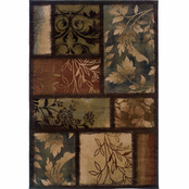 Oriental Weavers Hudson Floral Blocks Area Rug