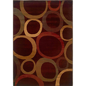 Oriental Weavers Tybee Pop Circles Area Rug