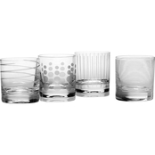Mikasa Cheers 4 pc. Double Old Fashioned Glass Set