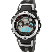 Armitron Men's Sport Digital Chronograph Black Resin Strap Watch 40/8231RDGY