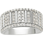 10K White Gold 1 CTW Diamond Anniversary Band, Size 7