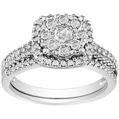 14K White Gold 2/3 CTW Diamond Bridal Set