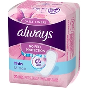 Always Thin Dailies Unscented Wrapped Liners