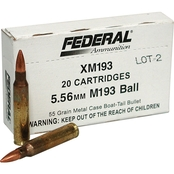 Federal 556NATO 55 Gr. FMJ, 20 Rounds