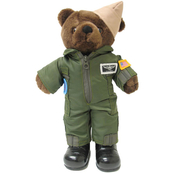 Bear Forces of America Plush Bear in the Navy Flight Suit, 11 in.