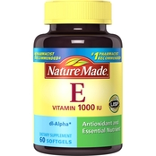 Nature Made Vitamin E 1000 IU Liquid Softgels 60 Count