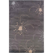 Linon Milan Collection Area Rug, Gray, Ivory
