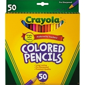 Crayola Long Barrel Colored Woodcase Pencils, 3.3 mm
