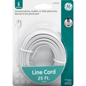 GE 25 Ft. Telephone Line Cord