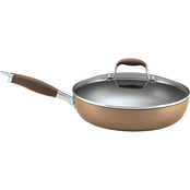 Anolon Advanced Bronze Hard-Anodized Nonstick 12 in. Covered Deep Skillet