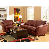 Omnia Spencer Leather Collection Loveseat