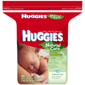 Huggies Natural Care Fragrance-Free Baby Wipes Refill