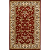 Surya Caesar Rug, Burgundy/Light Gray