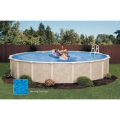 Lomart Sandstone Round Above-Ground Pool Package