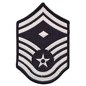 Air Force SMSgt (1st Sgt) Blue Chevron Large Rank