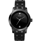 Guess Men's Round Ionic Plated Black Steel Watch