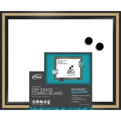 The Board Dude Magnetic Dry Erase Board with Cork Trim