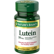 Nature's Bounty LUTEIN 20MG 40CT softgel