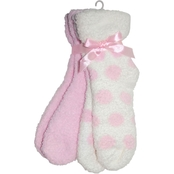 Earth Therapeutics TheraSoft Pink/Dot Socks 2 pr. pk.