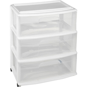 Homz 3 Drawer Wide Cart
