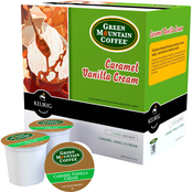 Green Mountain Coffee Caramel Vanilla Cream Light Roast Keurig K-Cup 18 pk.