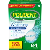 Polident Overnight Denture Cleanser 84 Ct.