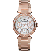 Michael Kors Women's Mini Parker Rose Goldtone Crystal Multifunction Watch MK5616