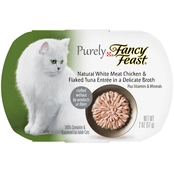 Fancy Feast Purely White Meat Chicken & Flaked Tuna Cat Food, 2 Oz.