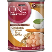 Purina ONE SmartBlend Gravy Chicken and Brown Rice Canned Dog Food