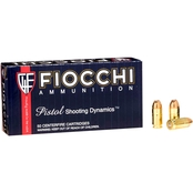 Fiocchi .380 ACP 90 Gr. Jacketed Hollow Point, 50 Rounds