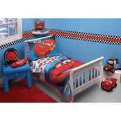 Disney Taking the Race by Crown Crafts 4 pc. Toddler Bedding Set