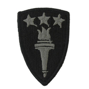 ARMY PATCH, WAR COLLEGE FOLIAGE GREEN, VELCRO