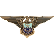 Air Force Officer Inter-American Academy Badge Non-Subdued, Pin-on, Regular Size