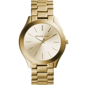 Michael Kors Women's Goldtone Runway Slim Watch 42MM MK3179