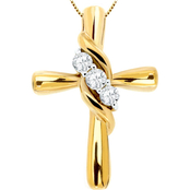 Sirena 14K Yellow Gold 1/8 CTW Diamond Cross Pendant