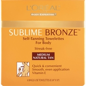 L'Oreal Paris Sublime Bronze Self Tanning Towelettes, 6 ct.