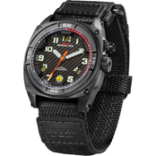 MTM Special Ops Falcon Black Stainless Steal Ballistic Velcro Watch F-BLK-BALL