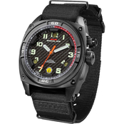 MTM Special Ops Mens Black Falcon with Neoprene Strap Watch F-BLK-NEO (B)