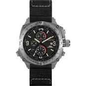 MTM Special Ops Mens Silver Cobra Chronograph with Neoprene Strap