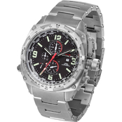 MTM Special Ops Mens Silver Cobra Chronograph with Titanium Band