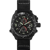MTM Special Ops Mens Black Cobra Titanium Chronograph with Neoprene Strap