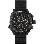 MTM Special Ops Mens Black Cobra Titanium Chronograph with Rubber Strap